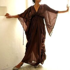 Helen dressRust Brown mix silk one size fits most by cocoricooo