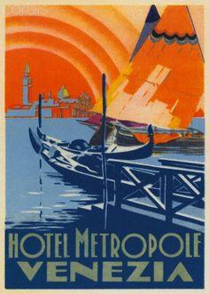 venezia venice veneti typography on pinterest vintage travel posters venice and travel posters. Black Bedroom Furniture Sets. Home Design Ideas