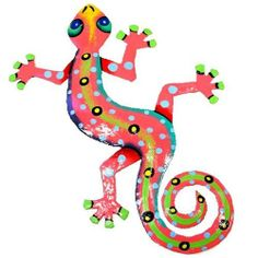 Recycled Pink Metal Gecko Wall Art by Blue Sky Collection, http://www.amazon.com/dp/B005TKEXAO/ref=cm_sw_r_pi_dp_wU2-rb1Q0X7H7