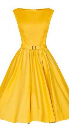 yellow full midi dress