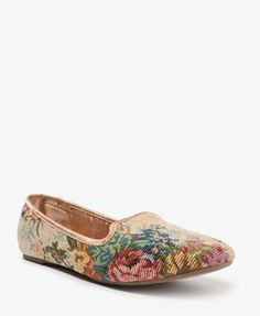 Woven Floral Loafers   FOREVER21 - 2021840533 - Size 9 or 10