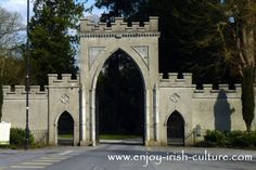 The Era of the Irish Big House- gate to Strokestown Park House estate,  County Roscommon Ireland. Click on the photo to read our full article on the era of Irish big houses!