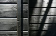 """""""Traditional Japanese homes commonly used shou-sugi-ban as external siding"""" the owner writes. """"The sugi was burned to resist rot and fire (it's harder for something already charcoaled to catch fire again) House Siding, Facade House, Creepy Houses, Charred Wood, Metal Siding, House Deck, Exterior Cladding, Wood Interiors, Wood Trim"""