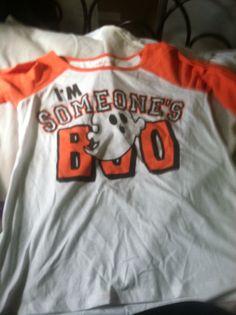 "Funny Halloween shirt ""someone's boo"""