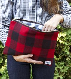 Gerry Buffalo Plaid Clutch | With a structured design, this buffalo check clutch adds dimen... | Handbags