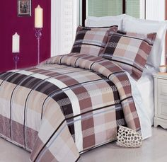 #manythings This is a EGYPTIAN COTTON FACTORY OUTLET STORE brand product. The #luxurious 3 Piece Duvet Cover Set is Khaki, Taupe, Blue, White and Chocolate in Co...