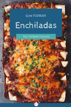 Looking for an easy dinner recipe for the big game? Check out these low FODMAP e. Looking for an easy dinner recipe for the big game? Check out these low FODMAP enchiladas! Fodmap Recipes, Diet Recipes, Vegetarian Recipes, Healthy Recipes, Fodmap Foods, Diet Meals, Vegetable Recipes, Enchiladas, Deserts