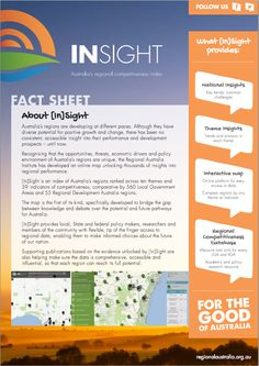 Fact sheet designed for the release of the RAI's flagship product, the [In]Sight: Australia's regional competitiveness index