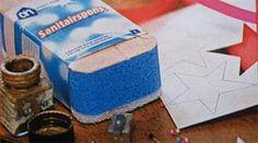 Zelf stempel maken van sanitairspons - Hobby.blogo.nl
