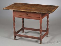 New England mid-18th. century tavern table.  26 h x 38 x 23  This would be a great game table in the loft.