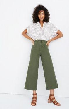 4cf66b866fad Emmett Wide-Leg Crop Pants Outfits For Rainy Days