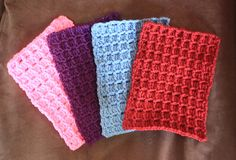 [Free Pattern] Fast And Easy Textured Square - http://www.dailycrochet.com/free-pattern-fast-and-easy-textured-square/