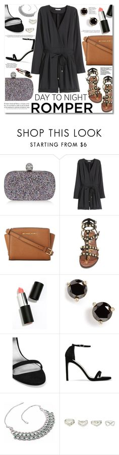 """""""Day to Night : Romper"""" by igedesubawa ❤ liked on Polyvore featuring Alexander McQueen, H&M, MICHAEL Michael Kors, Sam Edelman, Sigma Beauty, Kate Spade, Madara, Stuart Weitzman, Charlotte Russe and DayToNight"""