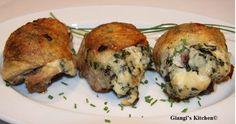 Chicken with Gorgonzola Spinach