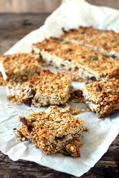 Cherry and Fig Flapjacks | Veggie Desserts Blog  These gluten-free flapjacks are a healthier version of the classic treat, and are packed with cherries, figs and peanut butter to make them flavourful with extra goodness.