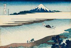 "Hokusai, 36 Views of Mount Fuji, ""The Tama River in Musashi Province"", c. 1829/ 1833, 24,9 x 37 cm"