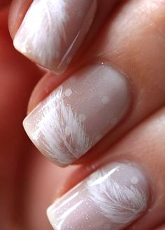 Lightly feathered nails.