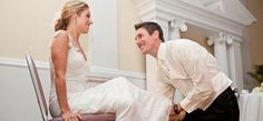 Explanation and brief history of the garter tradition at weddings :)