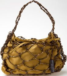 Heritage Vintage: Bottega Veneta Gold Satin and Beaded Bag