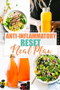 The anti-inflammatory diet meal planis a simple, healthy meal plan to RESET your body from oxidative stress. If you're confused by the word anti-inflammatory, these healthy recipes are for you! Learn what foods help reduce inflammation and get delicious recipes to go along with it! #mealplan #antiinflammatory #diet #healthy