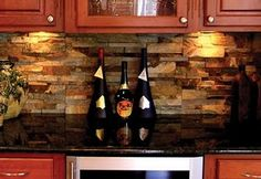 Love the stone backsplash!
