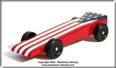 Standard Wedge Turbo Pinewood Derby Car Design