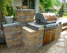 Created a way to take a standard Weber grill and make it look like a built-in outdoor kitchen.