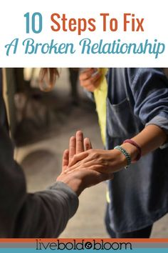 Relationships can be difficult to maintain. In this post learn how to fix a broken relationship.