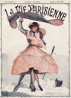 Georges Léonnec  (1881 – 1940). La Vie Parisienne, 17 Mars 1917. [Pinned 19-vii-2015]