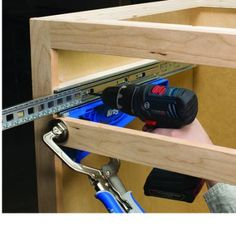 PDF DIY Kreg Woodworking Tools Super Sell, Tools Images, Drawer Rails, Pull Out Drawers, Kitchen Drawers, Cool Tools, Tool Box, Woodworking Tools, Sliders