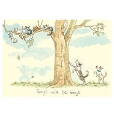 M256 CATS AND DOGS - Two Bad Mice card by Anita Jeram www.twobadmice.com