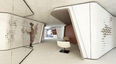 News and Trends from Best Interior Designers Arround the World Office Interior Design, Office Interiors, Best Interior, Workplace Design, Corporate Design, Wabi Sabi, Zaha Hadid Interior, Futuristic Interior, Curved Walls