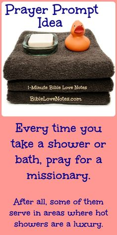 This 1-minute devotion offers several ideas for using everyday activities as prayer reminders.