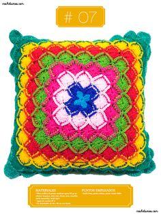 Crochet Almohadones #07 Blanket, Tejidos, Couple Things, Boas, Pillow Design, Dots, Blankets, Cover, Comforters