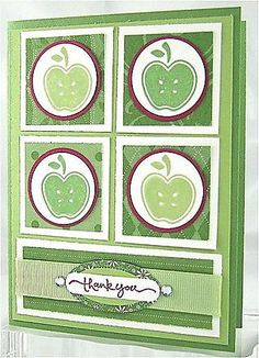 Tart & Tangy - Stampin' Up! Scrapbooking, Scrapbook Cards, Apple Theme, Stamping Up Cards, Color Card, Birthday Greetings, Craft Tutorials, Making Ideas, I Card