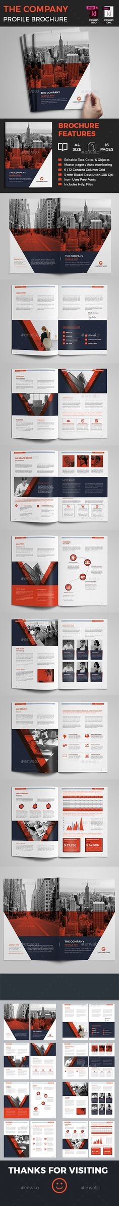 Corporate Brochure — InDesign INDD #a4 #blue • Download ➝ https://graphicriver.net/item/corporate-brochure/19768305?ref=pxcr
