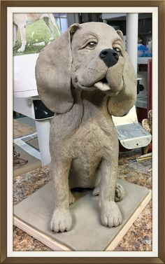 Dog Sculpture, Pottery Sculpture, Animal Sculptures, Pottery Art, Ceramic Animals, Clay Animals, Hand Built Pottery, Wood Carving Patterns, Dog Paintings
