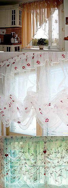 Романтичные шторы для вашей кухни: нежный и красивый дизайн