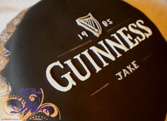 A fun way to celebrate - with a Guinness cake! Even the inside can be made of Guinness with Bailey's buttercream - oh yeah! Created by The Cake Diva. Guiness Beer, Guinness Cake, Organic Eggs, Organic Fruit, Cakes For Men, Specialty Cakes, Cake Art, Cake Designs, Food Art