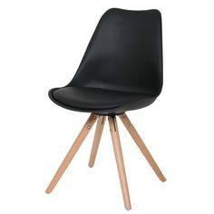 #Meubelklik. Deze #Consilium Woody met houten onderstel is een #design #stoel van uitstekende kwaliteit tegen een scherpe prijs.