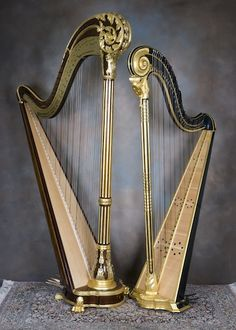 A Erard 2470 Scroll Top and an 18thC French Crochet Action harp