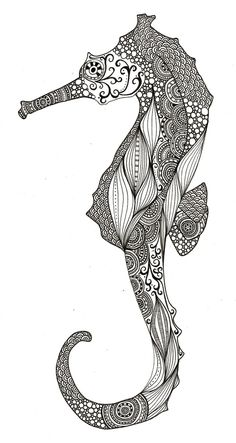 beautiful seahorses in love | Seahorse | cute-tattoo- s is for seahorse and for sydney too.