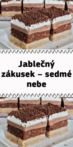 Czech Recipes, Ethnic Recipes, Tiramisu, Food And Drink, Apple, Apple Fruit, Tiramisu Cake, Apples