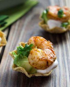 Shrimp Taco Bites - make with Gerry's mini wraps