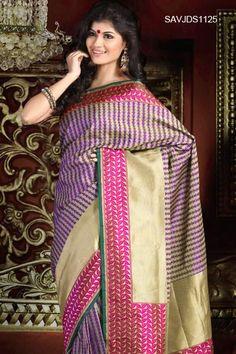$361 Scintillating Jacquard Silk Saree From Cbazaar
