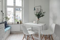 Bright and airy Swedish apartment proves small can feel spacious