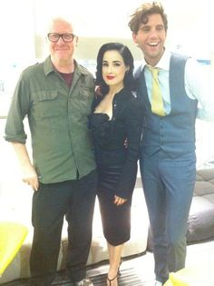 Paul Lester, Dita Von Teese, and Mika Sept 2012
