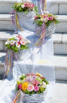 Love this idea just needs a few creative adjustments. Wedding Staircase, Wedding Entrance, Baptism Decorations, Wedding Decorations, Floral Wedding, Rustic Wedding, Arch Decoration, Floral Centerpieces, Event Decor