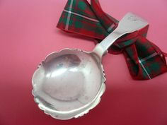 Antique Silver Caddy Spoon SCOTTISH Glasgow 1829 Unidentified Maker