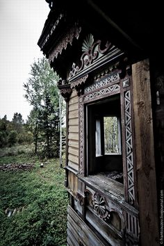 Abandoned Ostashevo village mansion, Chuhlomskoy Kostroma region in Russia
